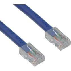 Cable Wholesale Cat 6 Blue Ethernet Patch Cable, Bootless, 10 Foot