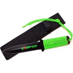 11' Zombie War Green Cord Wrapped Handle Hunting Knife with Sheath