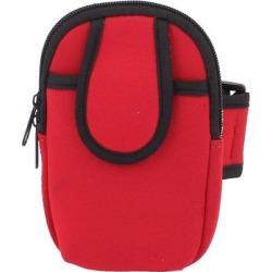 Unique Bargains Outdoor Loop Movement Run Zipper Poke Mobile phone Arm Wrist Bag