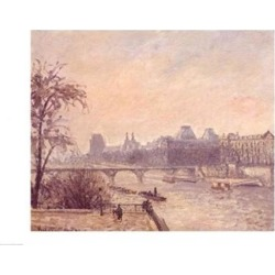 Posterazzi BALBAL8095LARGE The Seine & The Louvre 1903 Poster Print by Camille Pissarro - 36 x 24 in. - Large