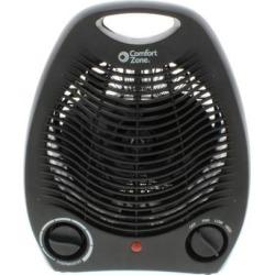 Comfort Zone CZ40BK 1500 Watt Portable Heater with Thermostat, Black