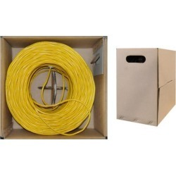 Cable Wholesale CAT6 UTP Bulk Solid Cable, 1000 ft - Yellow