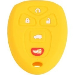 Yellow 5 Button Car Remote Key Case Holder Shell Cover for GMC