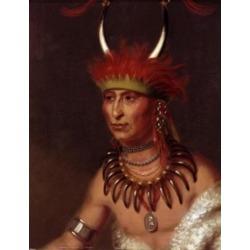 Posterazzi SAL900128650 Shaumonekusse Prairie Wolf an Oto Chief by Charles Bird King 1785-1862 Poster Print - 18 x 24 in.