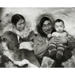Posterazzi SAL990118173 Eskimo Couple Sitting with Their Son Poster Print - 18 x 24 in. found on Bargain Bro India from Newegg Canada for $55.18