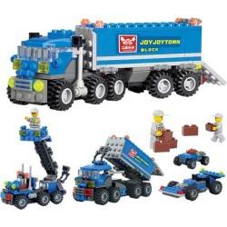 163 Pieces Plastic Building Blocks Kids Child Educational Toys for Children Dumper Truck DIY Toy