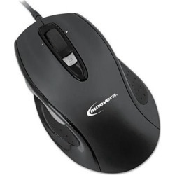 Full-Size Wired Optical Mouse USB Black