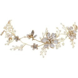 Pearls Wedding Tiara Bridal Headband Rhinestone Tiara Filigree Hair Jewelry