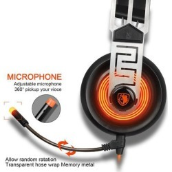 A7 USB 7.1 Surround Sound stereo Gaming Headset Wired Headphone With LED microphone For PC Laptop Gamer
