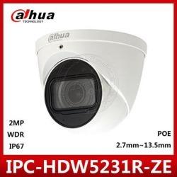 Dahua Original IPC-HDW5231R-ZE 2MP 1080P POE H.265 2.7-13.5MM Motorized Lens IR Eyeball Starlight Network Dome Ip Camera Built-in SD Slot Firmware