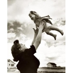 Posterazzi SAL2556012B Side Profile of a Mother Tossing Her Daughter in the Air Poster Print - 18 x 24 in.