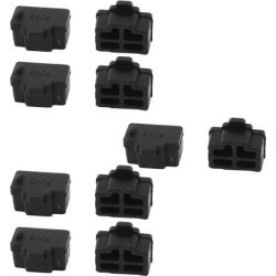 Unique Bargains Black Ethernet Port RJ45 RJ-45 Anti Dust Cover Cap Protector Plug 10Pcs found on Bargain Bro Philippines from Newegg Canada for $7.64