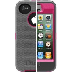 OtterBox Defender Series Case and Holster for iPhone 4/4S - Retail Packaging - Pink/Gray (Discontinued by Manufacturer)