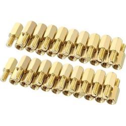 Unique Bargains 50pcs M3 8+6mm Female Male Thread Brass Hex Standoff Spacer Screws PCB Pillar
