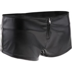 PU Leather Booty Shorts for Women XL