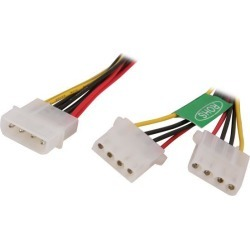 Athena Power CABLE-YPHD 8 in. Molex Y Splitter Power Cable