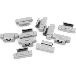Unique Bargains 10pcs Silver Tone 25g Clip Tyre Wheel Balancing Weights for Auto Car