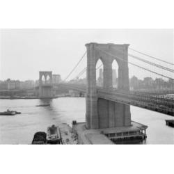 Posterazzi SAL255424366 USA New York City Brooklyn Bridge Poster Print - 18 x 24 in.