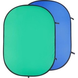 Neewer 5x6.5ft Collapsible Dual Sides Chromakey Green Blue Background Backdrop