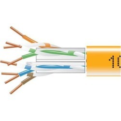 Black Box EYN867B-PB-1000 CAT6 550-MHz Solid Bulk Cable - Unshielded, Plenum, Orange, 1000 ft. Pull Box