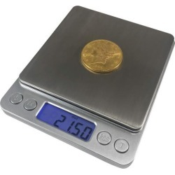 OPTIMA HOME SCALES TITANIUM POCKET WEIGH SCALE SILVER