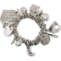 Unique Bargains Heart Moon Strawberry Decor Bangle Chain Bracelet Silver Tone found on Bargain Bro India from Newegg Canada for $7.61
