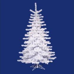 10' Pre-lit Medium White Artificial Christmas Tree - Multi-Color Lights