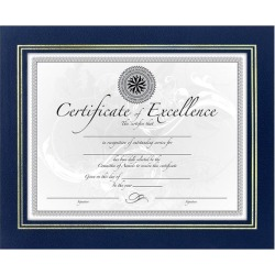 DAX N3191NB Leatherette Certificate Frame 11' x 8-1/2', Blue