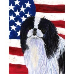 Carolines Treasures SS4223GF 11 x 15 in. Usa American Flag With Japanese Chin Flag Garden Size