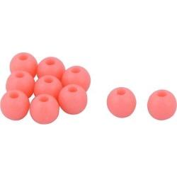 Unique Bargains Unique Bargains 10 Pcs 5mm Fluorescent Round Shaped Hard Plastic Beads for Fishing