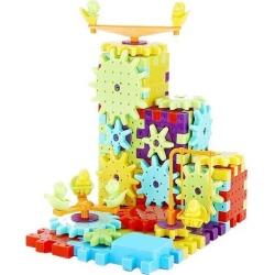 81pcs Children's Plastic Building Blocks Toys Kids DIY Creative Educational Toy Gear Blocks Toys for Children
