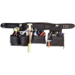 CLC 5605 BLACK 5 Piece Combo Set 18 Pocket Black Professional Carpenter's Tool Belt found on Bargain Bro Philippines from Newegg for $80.99