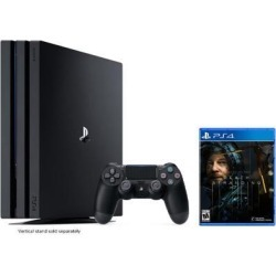 PlayStation 4 Pro 1TB Jet Black 4K HDR Gaming Console Bundle With Death Stranding - 2019 New PS4 Game!