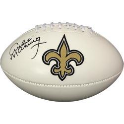 Archie Manning Signed New Orleans Saints Logo Football PSA