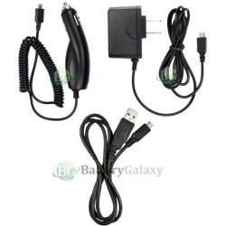 Wall+Battery Car Charger+Micro USB Cable Cord for Android Cell Phone 900+SOLD