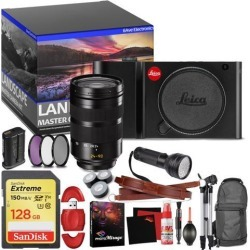 Leica TL Mirrorless Digital Camera (Black) - Master Landscape Photographer Kit - Memory Card - Accessories with Leica SL 24-90mm f/2.8-4 ASPH. Lens
