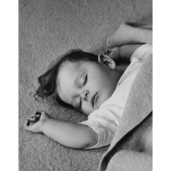 Posterazzi SAL2559641 High Angle View of a Baby Sleeping Poster Print - 18 x 24 in.