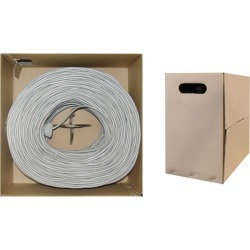Cable Wholesale CAT6 UTP Bulk Cable Solid Plenum 23 AWG 1000 ft - Gray
