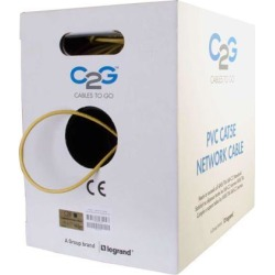 C2G 43404 Cat5e Bulk Cable - Unshielded Ethernet Network Cable with Stranded Conductors, in-Wall cm-Rated, TAA Compliant, Yellow (1000 Feet, 304.8.