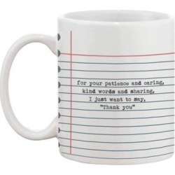 Funny Ceramic Coffee Mug With Bold Statement - Thank You, Teacher