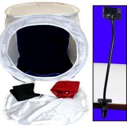 Photo Studio 24' Light Box Cube Kit w/ Clamping 20' Gooseneck Camera Mount