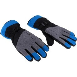 Winter Gloves with Wrist Strap for Skiing Snowboarding Shoveling blue