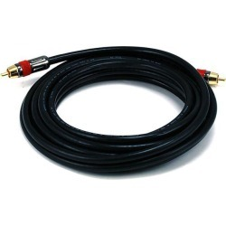 Monoprice 15ft High-quality Coaxial Audio/Video RCA CL2 Rated Cable - RG6/U 75ohm (for S/PDIF, Digital Coax, Subwoofer,