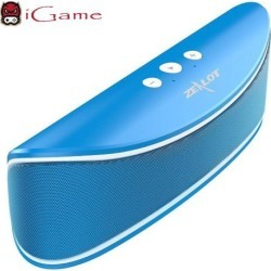 iGame Zealot S2 Portable Wireless Bluetooth Speaker with Bass, Hands-free Calling, Supports USB/TF Card - Blue
