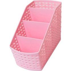 Unique Bargains Kitchen Bathroom Toilet Imitation Rattan Design 4 Slots Storage Basket Box Pink found on Bargain Bro Philippines from Newegg Business for $7.50
