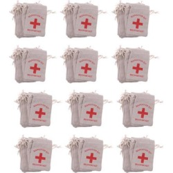 120x Hangover Kit Bags Bachelorette Party First Aid Bags Muslin Favors Bag