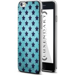 LUXENDARY BLUE STARS PATTERN DESIGN CHROME SERIES CASE FOR IPHONE 6/6S PLUS