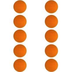 10 Pieces EVA Foam Golf Swing Exercises Practice Training Balls Orange