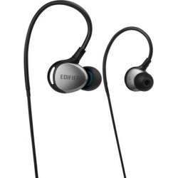 Edifier P281 Waterproof Headphones - Sports In-Ear Earphones IP57 Rated with Memory Around-the-ear Wire for Running, Workout, Exercise - Black/Silver