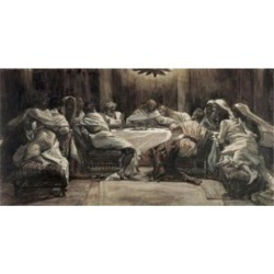 Posterazzi SAL9999221 The Lords Supper James Tissot 1836-1902 French Poster Print - 18 x 24 in.